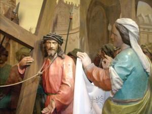 Una stazione della Via Crucis di Cerveno
