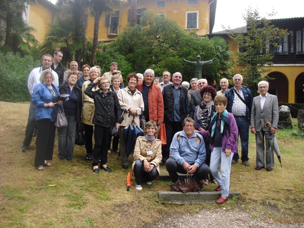 Settembre 2012 una delle nostre guide con un gruppo al Vittoriale