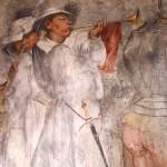 Romanino, particolare affresco