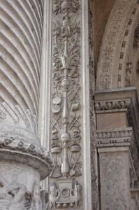 S Maria dei MIracoli, particolare della facciata