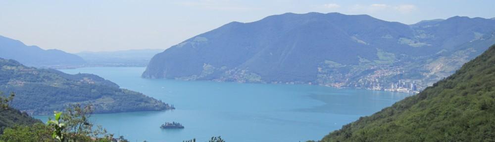 Panorama del lago d'Iseo